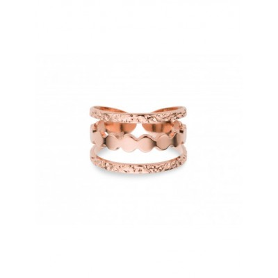 BAGUE MANHATTAN - RONDS- ROSE GOLD