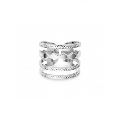 BAGUE NEW YORK - CONFETTI - SILVER
