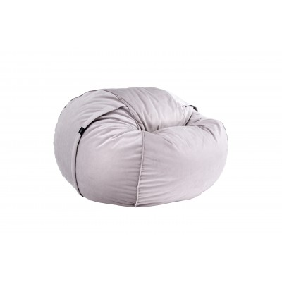 Pouf Medium Velvet light grey