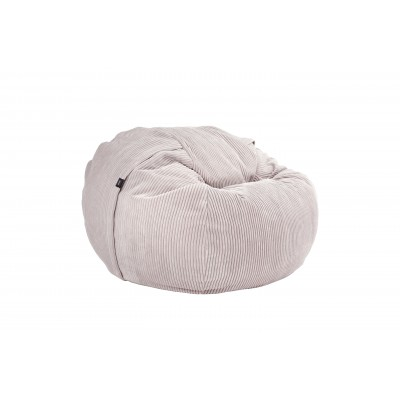 Pouf Medium Cord Velours Platinum