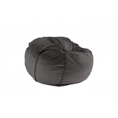 Pouf Medium Velvet dark grey