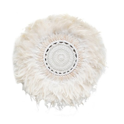 THE BOHO FEATHER WALL JUJU - WHITE - 55