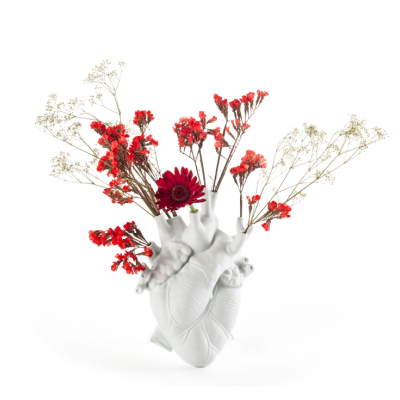 "VASE EN PROCELAINE - "" LOVE IN BLOOM """