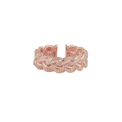 MYA BAY BAGUE TRESSEE - OR ROSE
