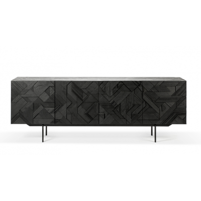 TECK BUFFET GRAPHIC NOIR 4 PORTES
