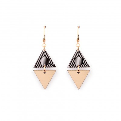 BOUCLES D'OREILLES GRAPHIC HORIZON 1 BRONZE