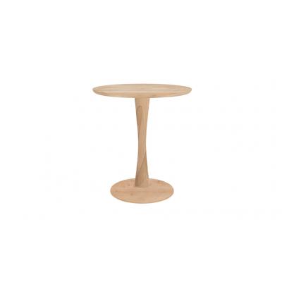 TABLE RONDE TORSION - CHENE - D.70XH.76