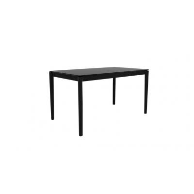 TABLE BOK EN CHENE BLACK 140X80X76