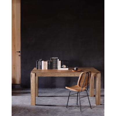 Teak Slice extendable dining table - legs 10 x 10 cm