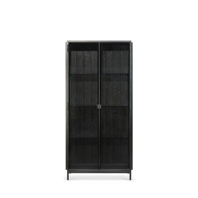 Anders black storage cupboard - 2 doors