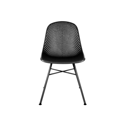 Chaise Diamond Mesh PP noir