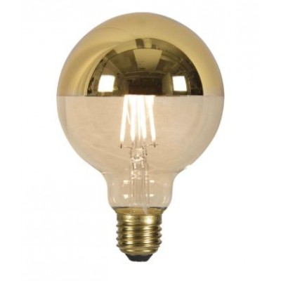 LED lamp globe filament top mirror gold dia.9,5xh.14cm E27