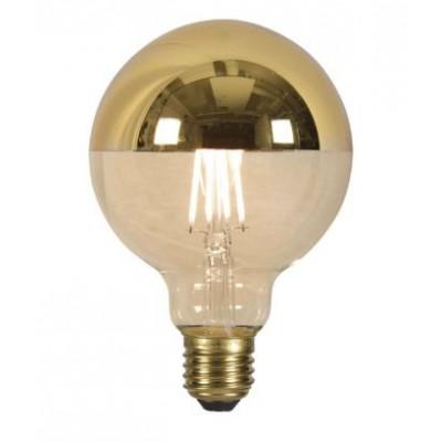 LED lamp globe filament top mirror gold dia.9,5xh.14cm E27