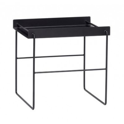 TABLE CARRE METAL NOIR 41X41XH45 CM