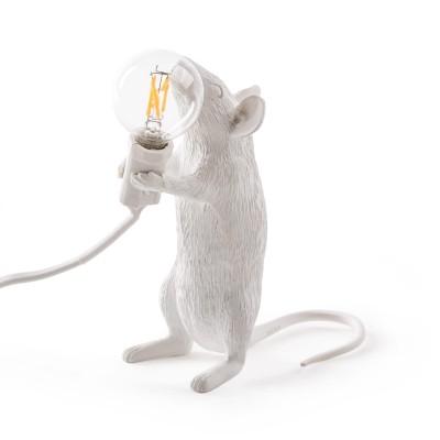 LAMPE SOURIS EN RESINE POSITION DEBOUT