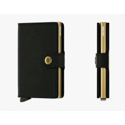 PORTE-CARTES MINIWALLET CRISPLE BLACK - GOLD
