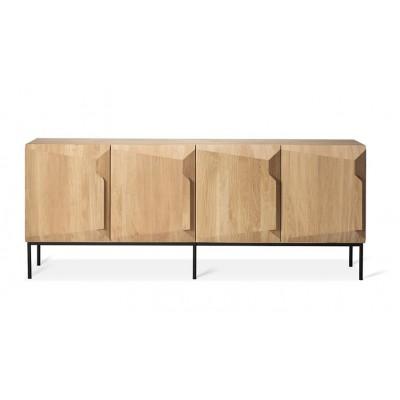 Oak Stairs sideboard - 4 doors - varnished