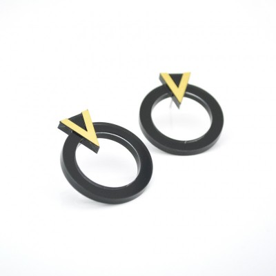 BOUCLES D'OREILLES RING OR