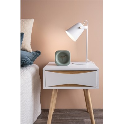 TABLE LAMP STEADY METAL MATT WHITE
