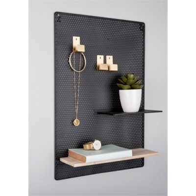 MEMO BOARD PERKY MESH IRON BLACK