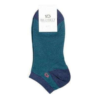 Socquettes coton Rayé Vert