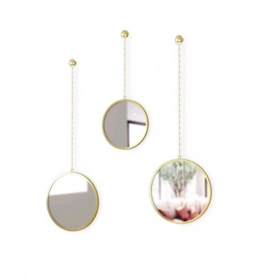 SET DE 3 MIROIRS DIMA ROND OR