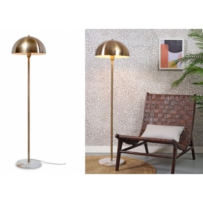 LAMPADAIRE TOULOUSE METAL/MARBRE GOLD