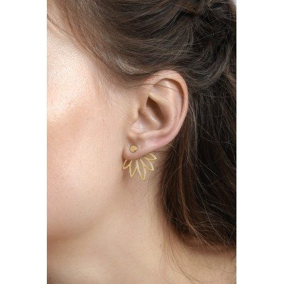 BOUCLES D'OREILLES SANSA EAR JACKETS OR