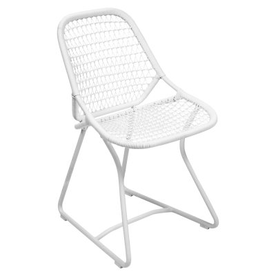 CHAISE SIXTIES BLANC COTON