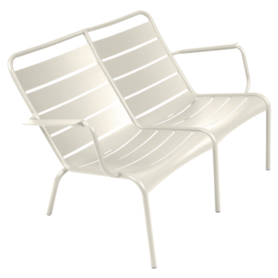 FAUTEUIL BAS DUO LUXEMBOURG BLANC