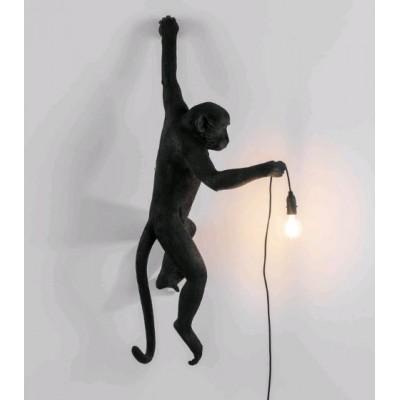 LAMPE EXTERIEUR SINGE EN RESINE NOIR