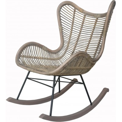 ROCKING CHAIR BERGAMO KOBO ET METAL NOIR