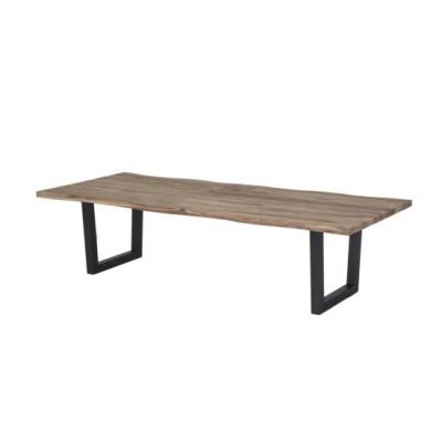 TABLE VALENTINE METAL ET CHENE 180X100 CM