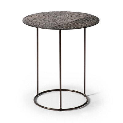 Celeste side table - lava linear - whisky