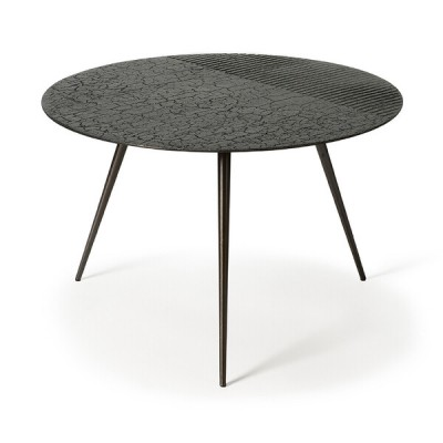 Luna coffee table - lava linear - black