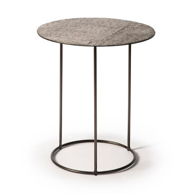 Celeste side table - lava linear - taupe