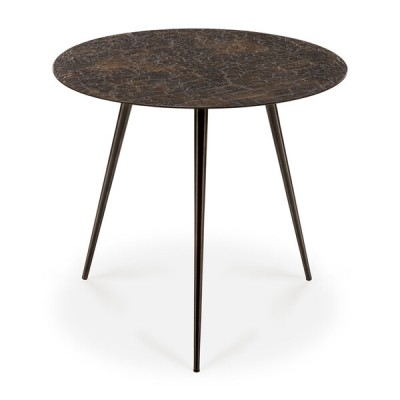 TABLE BASSE LUNA LAVA WHISKY 50x50x45cm