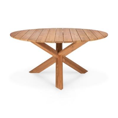 TABLE CIRCLE D'EXTERIEUR EN TECK 136X136X76CM