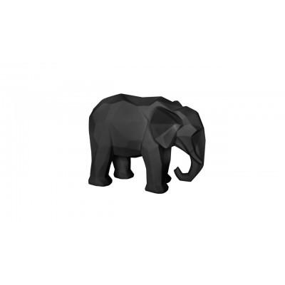 STATUE ORIGAMI ELEPHANT NOIR