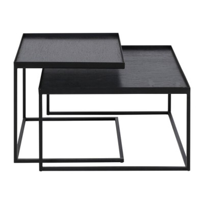 ENSEMBLE DE 2 STRUCTURES TABLES BASSES POUR PLATEAUX CARRES
