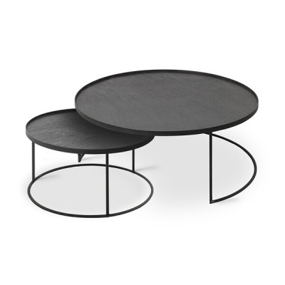 Round tray coffee table set - L/XL (trays not included)