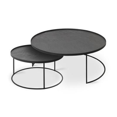 SET DE TABLE BASSES POUR PLATEAUX RONDS 93X93X38CM