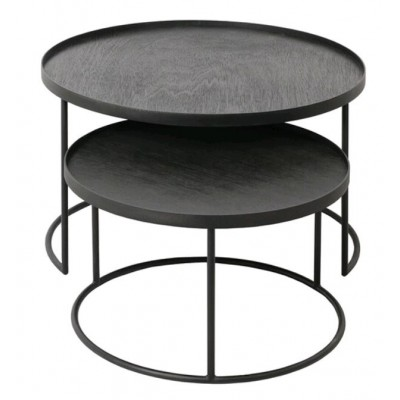 Round tray coffee table set - S/L (trays not included)