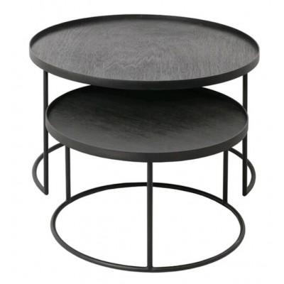 SET DE TABLE BASSES POUR PLATEAUX RONDS 62X62X38CM
