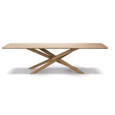 TABLE MIKADO EN CHENE 280X110X76CM