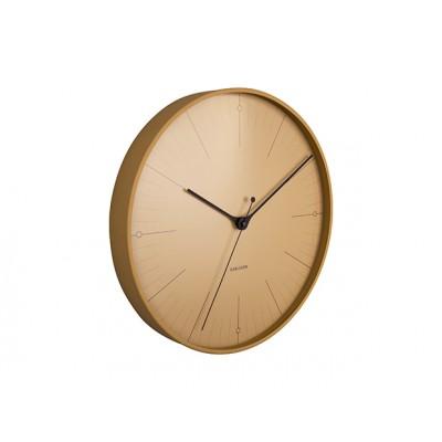 Horloge Index métal ocre jaune