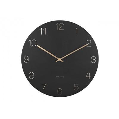 Horloge Charm numéros gravés noir