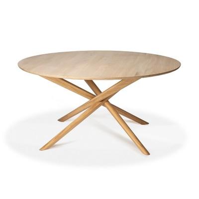 TABLE RONDE EN CHENE  MIKADO 150cm