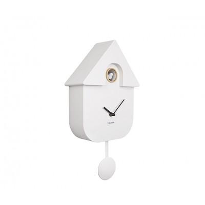 Horloge Modern Cuckoo ABS blanc