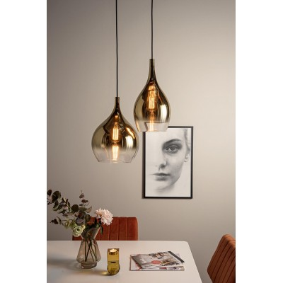 Pendant lamp Drup Large gold shadow